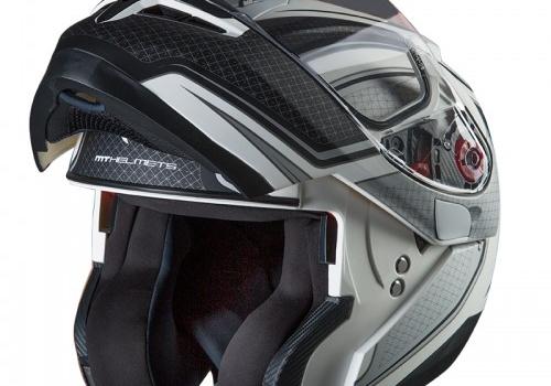 Κράνος MT Optimus SV Spdx One ματ άσπρο/μαύρο/ασημί